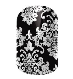 Black and White Damask  nail wraps by Jamberry Nails - These nails last for 2-3 weeks!! Better than polish & no chipping!! www.glamberrynails.jamberrynails.net - cannot wait for mine to come in!!!