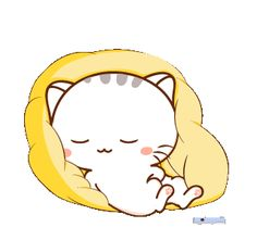 LINE Creators' Stickers - Wen small meow 3 Example with GIF Animation Cute Bunny Cartoon, Cute Kawaii Animals, Cute Cartoon Pictures, Cute Love Cartoons, Cute Love Pictures, Cute Love Gif, Cute Cat Gif, Chibi Cat, Cute Chibi