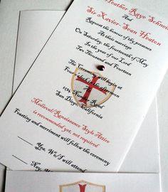 Personalised Medieval Wedding Invitations Gothic Illuminted