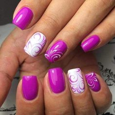 30 Most Popular Spring Nail Colors Of 2017 Perfect Nail Art is not enough, appropriate selection of color also plays vital role. Here comes the collection of Most Popular Spring Nail Colors Of 2017 Purple Nail Designs, Best Nail Art Designs, Nail Designs Spring, Gel Nail Designs, Nails Design, Pedicure Designs, Fingernail Designs, Tropical Nail Designs, Funky Nail Designs