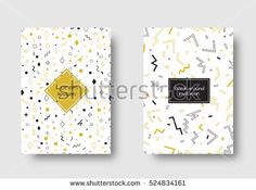 Retro design. Set for cover, flyers, leaflets, promotional offers, banners, brochures, booklets. Geometric ornament. Vector design