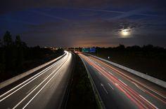 night view over Copenhagen
