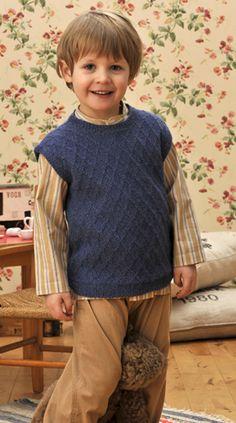 Herrevest til småfolk Knitting Patterns Boys, Kids Patterns, Knitting For Kids, Baby Knitting, Baby Barn, Baby Vest, Cardigans, Sweaters, Crochet