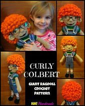 Ravelry: Curly Colbert Giant Ragdoll pattern by Michelle Moore
