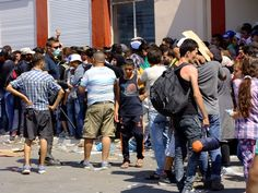Mytilini Port September 7, 2015, over 20.000 waiting in town to get checked  Greek to me ! - #Greece #Transit4Hope