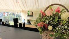 Stylish bar in Kenton Hall Estate marquee