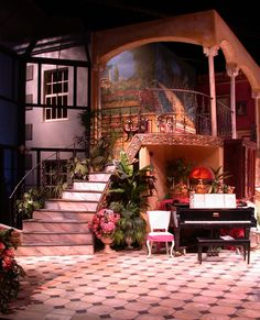 Hay Fever. Set design by Anie Lyman. Lighting design by Shawn Fisher.