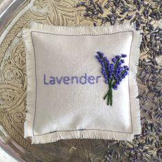 Lavender Sachet // Naturally Scented Sachet // by RubyJadeStudio