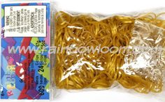 Gold (Jelly) | Rainbow loom