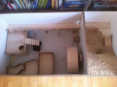 Simple and Large Wooden DIY Cage from Germany - Hamster Central
