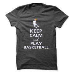 Keep calm and play basketball T Shirts, Hoodies, Sweatshirts. GET ONE ==> https://www.sunfrog.com/Sports/Keep-calm-and-play-basketball-9505079-Guys.html?41382