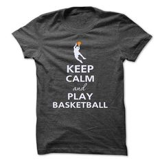 Keep calm and play basketball T Shirts, Hoodies, Sweatshirts. GET ONE ==> https://www.sunfrog.com/Sports/Keep-calm-and-play-basketball-9505079-Guys.html?41382