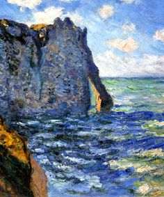 Claude Monet, a detail of The Manneport, 1882