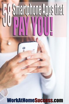 Get paid to test apps, take surveys, shop, watch videos, do tasks and on your smart phone. http://www.workathomesuccess.com/58-smartphone-apps-that-pay-you/?utm_campaign=coschedule&utm_source=pinterest&utm_medium=Leslie%20Truex&utm_content=58%20Smartphone%20Apps%20that%20Pay%20You