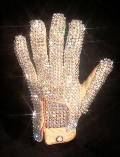FANCY DRESS # DELUXE MICHAEL JACKSON DIAMONTE GEM STONE BILLIE JEAN GLOVE