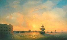 Kronstadt fort The emperor Alexander, 1844 - Ivan Aivazovsky - WikiPaintings.org