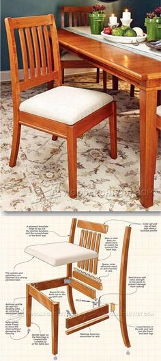 Dining Chair Plans - Furniture Plans and Projects    http://WoodArchivist.com