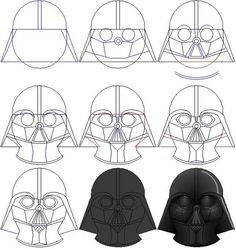 How To Draw Darth Vaders Mask By Ralo4155deviantart On DeviantART