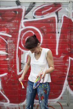 Portrait editorial with an artist Luciana Monin, for Les toiles studio Lausanne, Switzerland photo credits: Jagoda Wisniewska Photo, Photography Projects, Painter, Photography, Artist, Portrait Editorial, Portrait