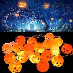 16pcs-Set-Halloween-Party-Pumpkin-Props-String-Pumpkin-Lamp-Light-Decor-New