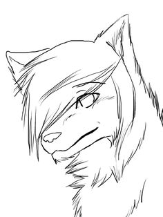 easy to draw anime wolf - Google Search