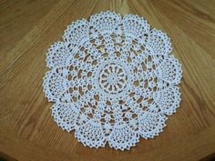 Hand Crochet Doily - Lacy Fans
