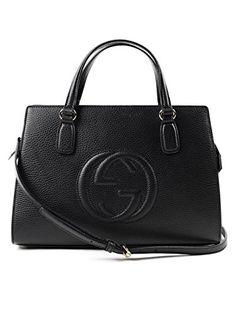 181749b98 Gucci Soho Leather Satchel tote Structured Black Shoulder Bag New  https://sakosj.