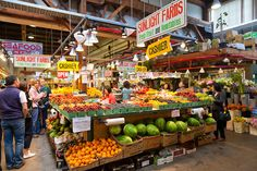 Granville Island Market in Vancouver, BC. So much wonderful local food!
