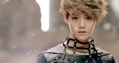 Luhan - pretty, so pretty, too pretty to be true and cute as hell. Like a doll, perfect.