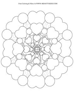 Heart Coloring Pages For Adults Mandala Valentine Coloring Pages, Heart Coloring Pages, Free Adult Coloring Pages, Mandala Coloring Pages, Colouring Pages, Printable Coloring Pages, Printable Art, Coloring Books, Printables