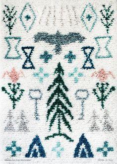 Image of Elonkierto -juliste Rya Rug, Wool Rug, Home Textile, Textile Design, Image Deco, Shaggy Rug, Textiles, Fabric Rug, Floor Decor