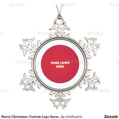 Christmas and New Year's Personalized Gift Snowflake Ornaments. Add your picture, logo or text to this Christmas Design and make an unique gift for your family, friends or company ! Matching cards, postage stamps and other products available in the Christmas & New Year Category of the artofmairin store at zazzle.com