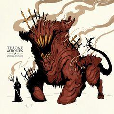 Monster Concept Art, Fantasy Monster, Monster Art, Fantasy Character Design, Character Design Inspiration, Character Art, Cool Monsters, Horror Monsters, Drawing Reference Poses