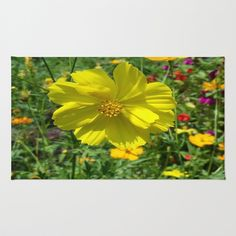 FIELD OF HAPPINESS Area & Throw Rug by Annie Koh - $28.00