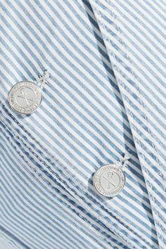 A.P.C. Atelier de Production et de Création - Montana Striped Cotton-blend Overalls - Blue - FR