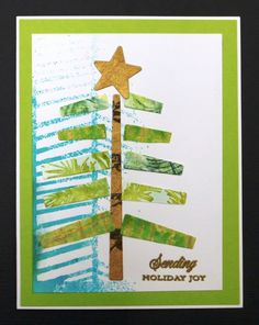 MIX197  Scrap Christmas Card