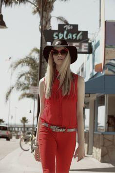 LF Stores - clara red shirt