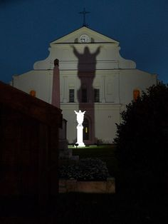 Jackson Square---Touchdown for Saints!! ...I have my own photographs of this...it is magical