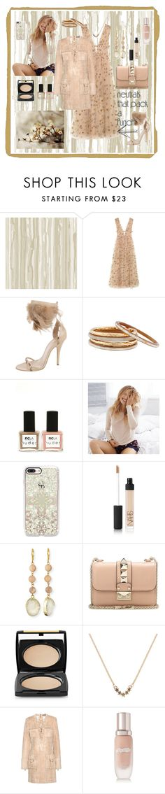 """""""neutrals"""" by explorer-14673103603 ❤ liked on Polyvore featuring Cole & Son, Valentino, Givenchy, Nest, ncLA, Aerie, Casetify, NARS Cosmetics, Panacea and Lancôme"""