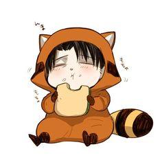 Sigh* This Levi is so cute. Anime Chibi, Kawaii Chibi, Cute Chibi, Kawaii Anime, Attack On Titan Funny, Attack On Titan Fanart, Levi Ackerman, Otaku, Eren E Levi