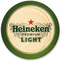 Slightly used Heineken Light coaster.