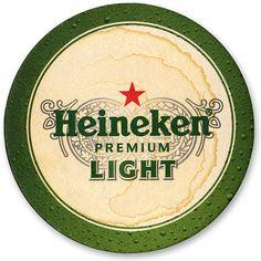 Slightly used Heineken Light coaster.