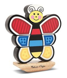 2 Item Bundle: Melissa & Doug 2166 Butterfly Stacking Toy + Free Activity Book by Melissa & Doug, http://www.amazon.com/dp/B007TQ5X5A/ref=cm_sw_r_pi_dp_SnC8qb04AYYN2