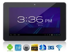 """Androra A713G 7"""" Android 4.0.4 A13 1.2GHz Tablet PC with External 3G #android #TabletPC #3GTablet"""