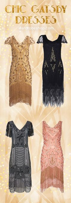 Browse the latest collection of Gatsby Lady: & Flapper style dresses and accessories 1920s Party Dresses, Roaring 20s Dresses, Roaring Twenties Party, Flapper Style Dresses, Vintage Inspired Dresses, 20s Theme Dress, Gatsby Dress, Gatsby Outfit, Wedding Dress