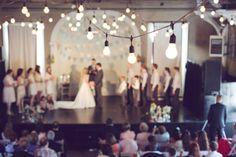 beautiful lighting at the ceremony | Modern Rustic Wedding Ideas | Amy Nicole Photography | Heart Love Weddings