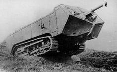 The heavy tank Saint Chamond.
