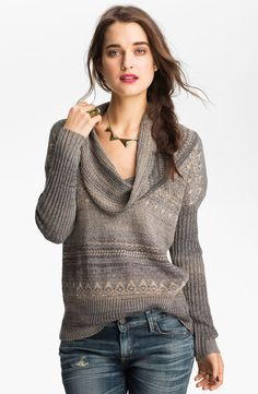 Free People Cowl Neck Sweater - Lyst