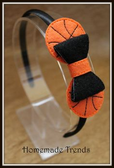 Basketball 3D Bow Hard Headband by HomemadeTrends on Etsy, $7.50