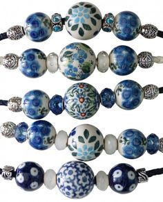This is a fantastic idea for Polish pottery necklaces :) Love it!